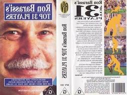 AFL RON BARASSI 'S TOP 31 PLAYERS    VIDEO VHS PAL A RARE FI