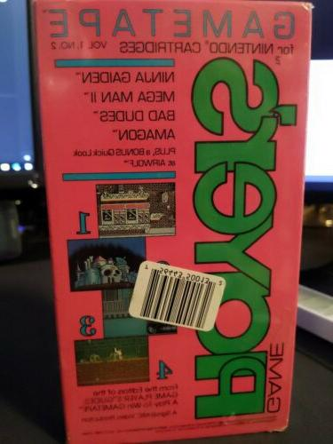 sealed game player s magazine gametape vhs