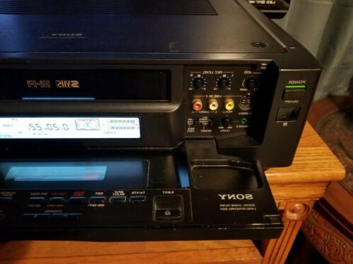 Sony SVO-2000 S-VHS VCR Super & WORKING