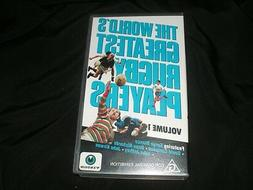 RUGBY UNION~THE WORLDS GREATEST RUGBY PLAYERS VIDEO VHS PAL~