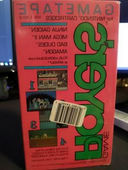 SEALED Game Player's Magazine GameTape VHS Vol. 1 & No. 2 NE